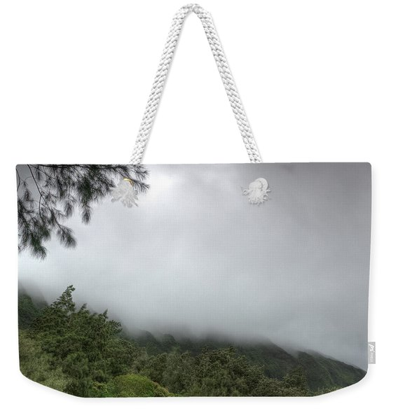 Weekender Tote Bag featuring the photograph The Mist On The Mountain by Break The Silhouette