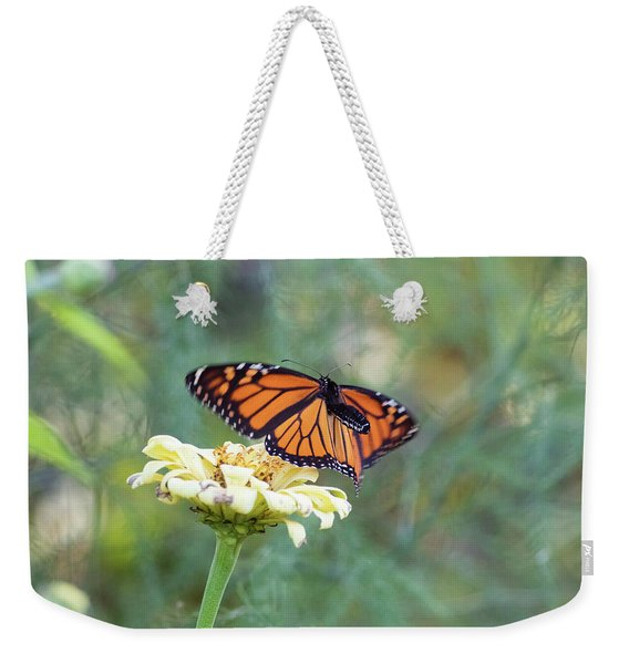 Weekender Tote Bag featuring the photograph The Monarch Has Arrived by Brian Hale