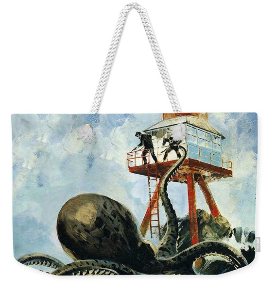 The Monster Of Serrana Cay Weekender Tote Bag