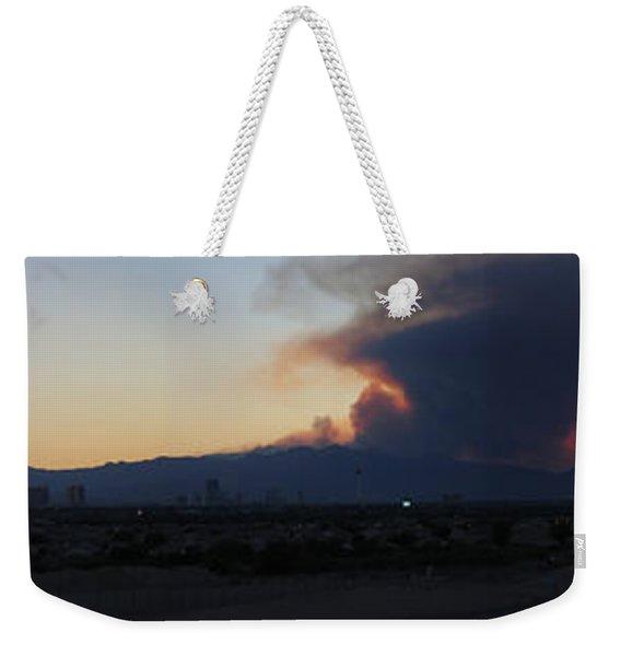 The Mount Charleston Fire Weekender Tote Bag