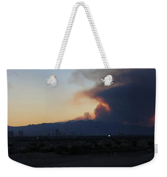 The Mount Charleston Fire Weekender Tote Bag