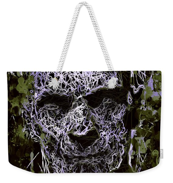 Weekender Tote Bag featuring the mixed media The Mummy by Al Matra