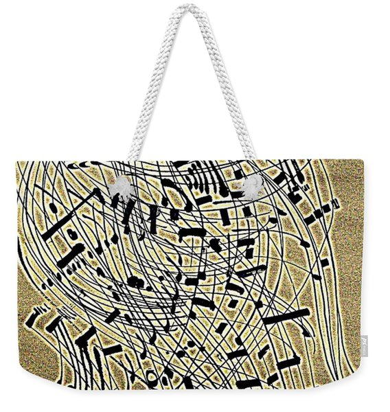 The Music Stand Weekender Tote Bag