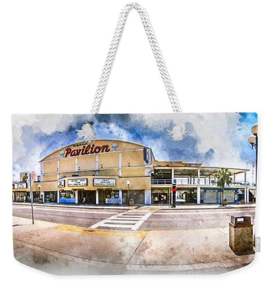The Myrtle Beach Pavilion - Watercolor Weekender Tote Bag
