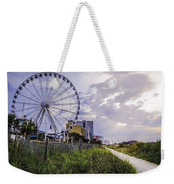 The Myrtle Beach, South Carolina Skywheel At Sunrise. Weekender Tote Bag