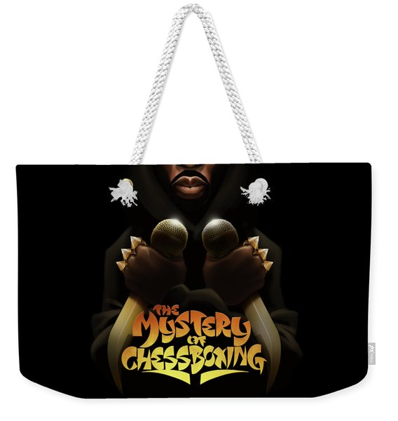 Weekender Tote Bag featuring the digital art The Mystery Of Chessboxing by Nelson dedosGarcia