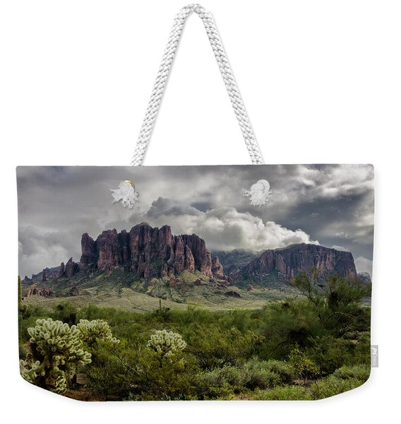 The Mystic Mountain  Weekender Tote Bag