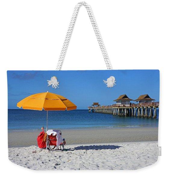 The Naples Pier Weekender Tote Bag