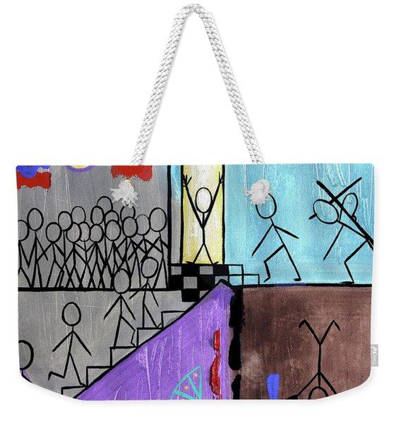 The Narrow Door Matthew 7-13-14 Weekender Tote Bag