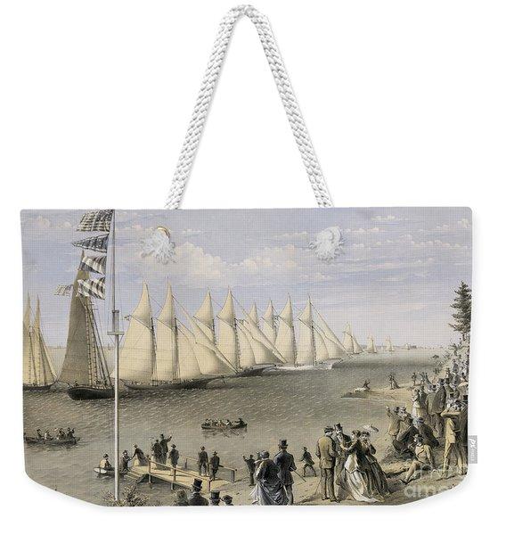 The New York Yacht Club Regatta, 1869 Weekender Tote Bag