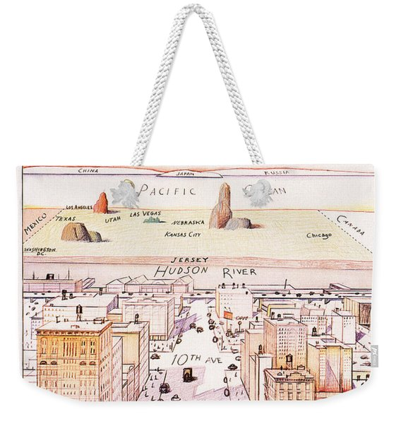The New Yorker - Magazine Cover - Vintage Art Nouveau Poster Weekender Tote Bag