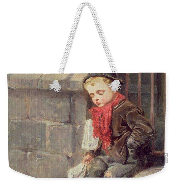 The News Boy Weekender Tote Bag