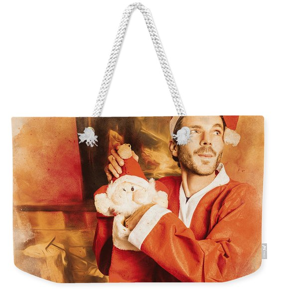 The Night Of Christmas Eve Weekender Tote Bag