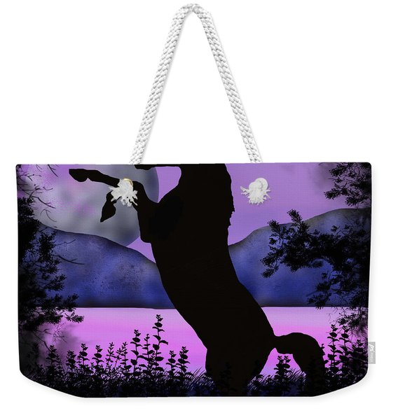 The Night Of The Unicorn Weekender Tote Bag