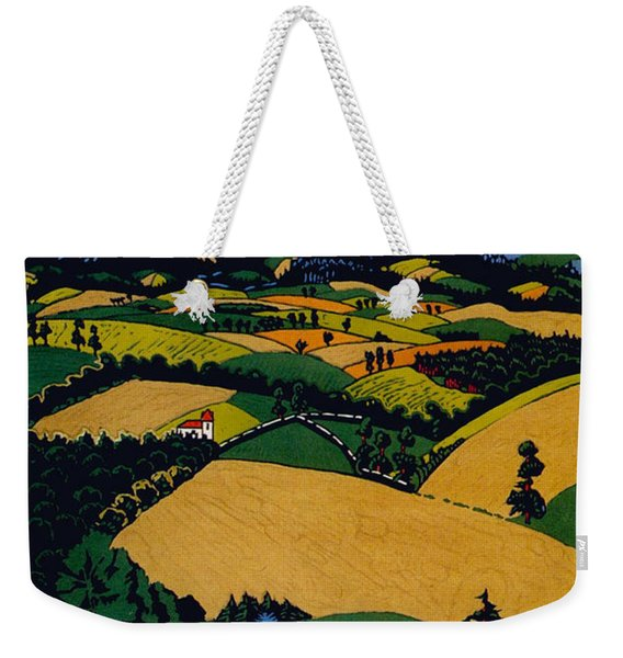 The North Downs - London Underground - London Metro - Retro Travel Poster - Vintage Poster Weekender Tote Bag