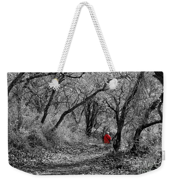 Weekender Tote Bag featuring the photograph The Oak Forest Trail by Arik Baltinester