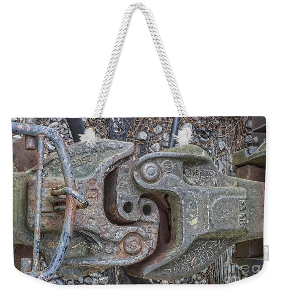 The Odd Coupler On Train Weekender Tote Bag