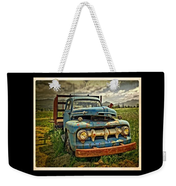 The Blue Classic Ford Truck Weekender Tote Bag