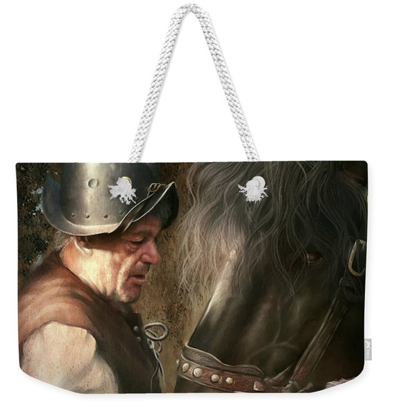 The Old Man And His Trusty Friend Weekender Tote Bag