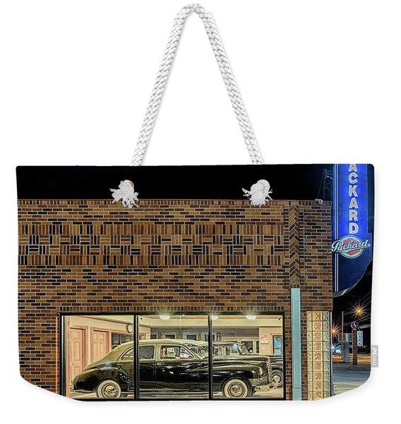 The Old Packard Dealership Weekender Tote Bag