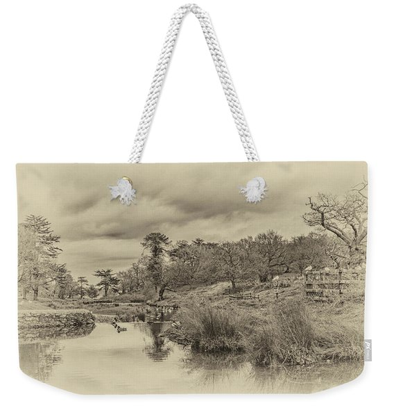 Weekender Tote Bag featuring the photograph The Old Pond by Nick Bywater