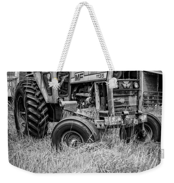 The Old Tractor By The Old Round Barn II Weekender Tote Bag