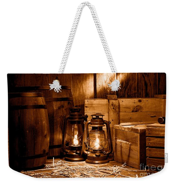 The Old Warehouse - Sepia Weekender Tote Bag