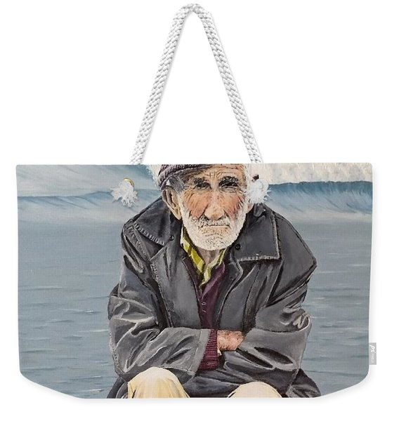 Weekender Tote Bag featuring the painting The Old Waterman by Kevin Daly
