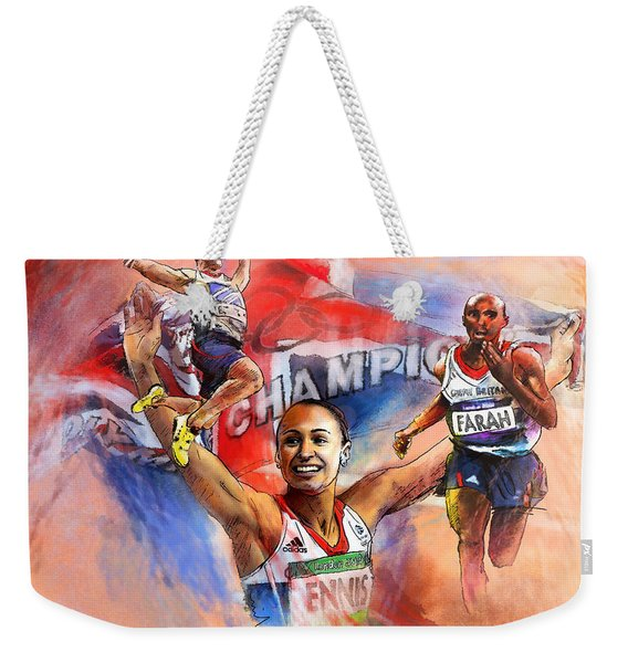 The Olympics Night Of Gold Weekender Tote Bag