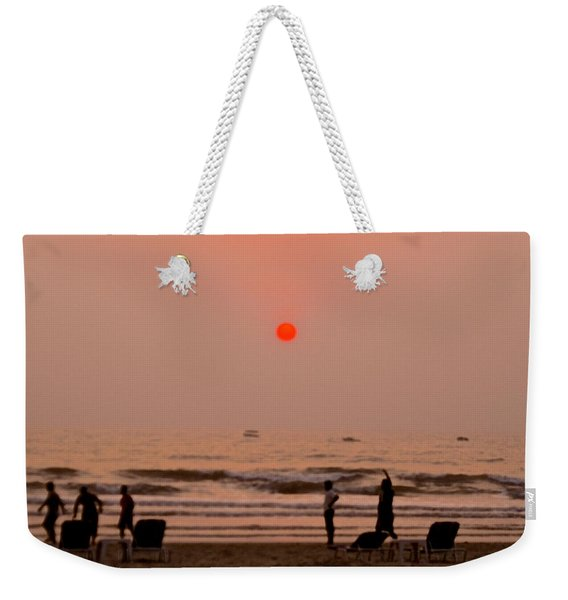 The Orange Moon Weekender Tote Bag