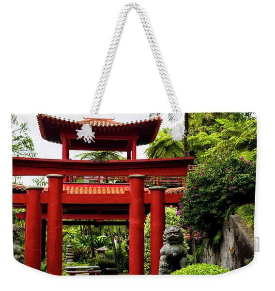 The Oriental Gate To Happiness Weekender Tote Bag