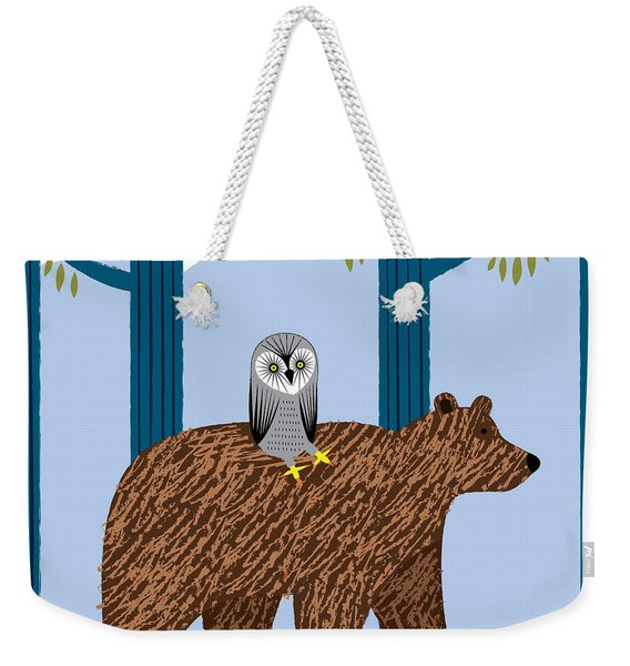 The Owl And The Bear Weekender Tote Bag