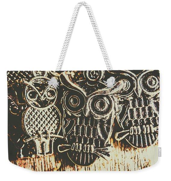 The Owlactic Gathering Weekender Tote Bag