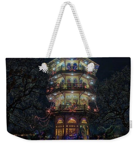 The Pagoda At Christmas Weekender Tote Bag