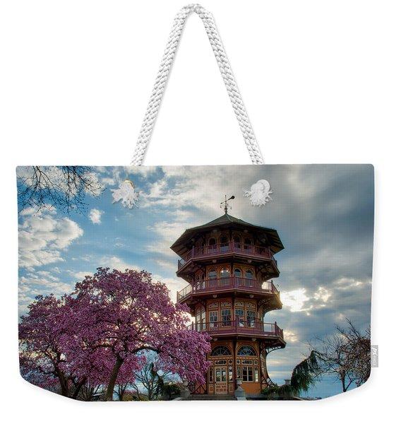 The Pagoda In Spring Weekender Tote Bag