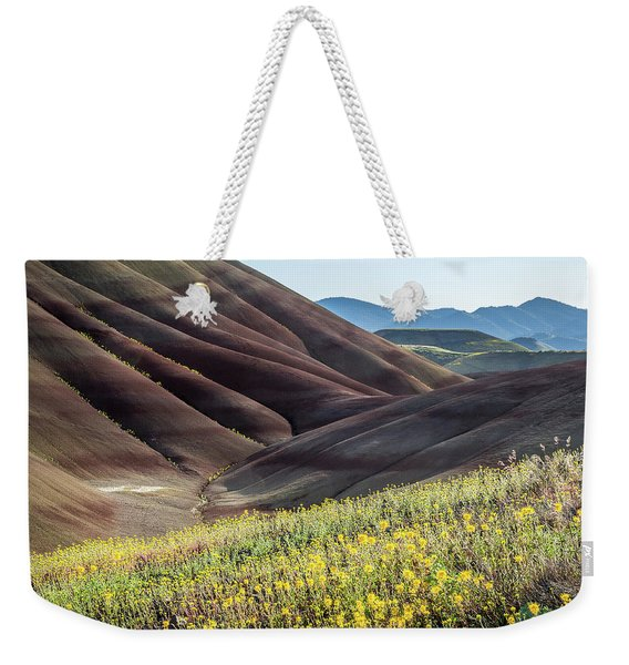 Weekender Tote Bag featuring the photograph The Painted Hills In Bloom by Tim Newton
