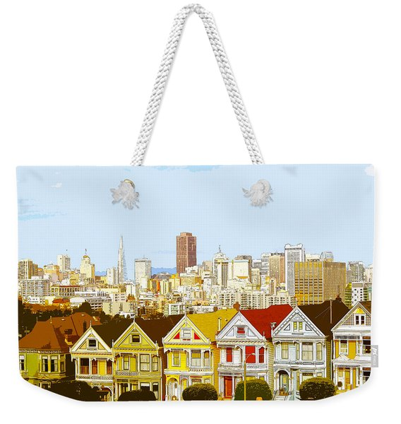 The Painted Ladies In San Francisco California Weekender Tote Bag