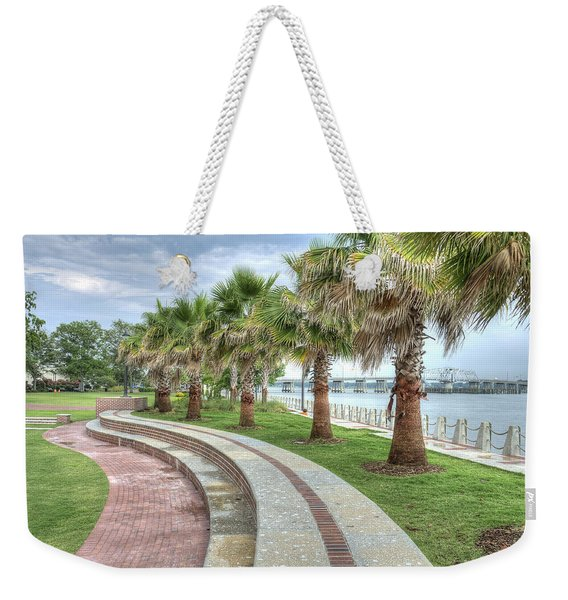 The Palms Of Water Front Park Weekender Tote Bag