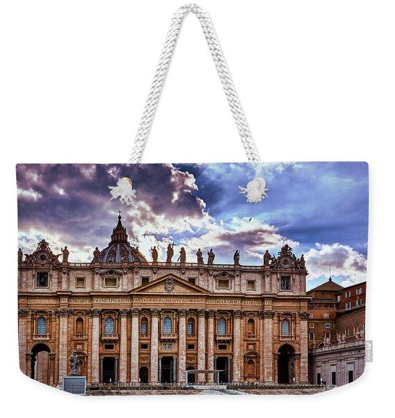 The Papal Basilica Of Saint Peter Weekender Tote Bag