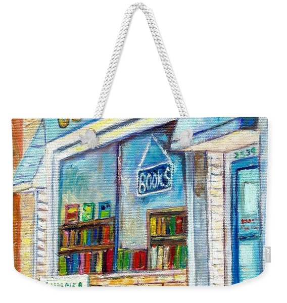 The Paperbacks Plus Book Store St Paul Minnesota Weekender Tote Bag