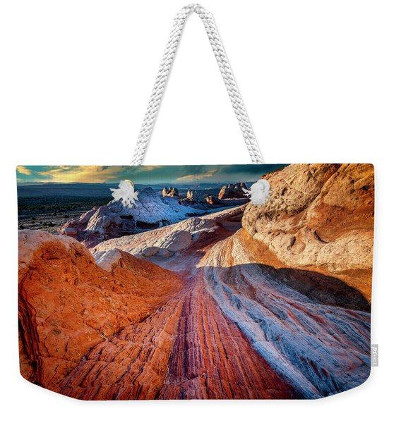 The Path To White Pockets Weekender Tote Bag