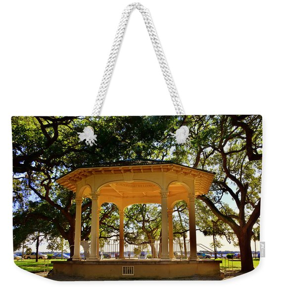The Pavilion At Battery Park Charleston Sc  Weekender Tote Bag