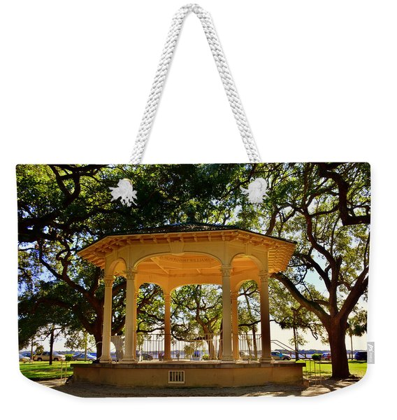 The Pavilion At Battery Park Charleston Sc  Weekender Tote Bag