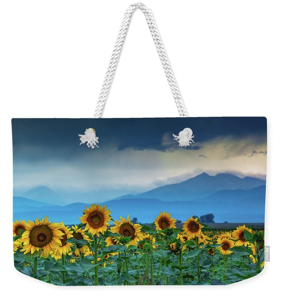 Weekender Tote Bag featuring the photograph The Pending Rain by John De Bord
