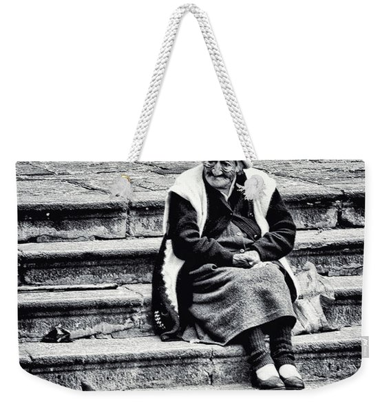 The Peruvian Lady Black And White Weekender Tote Bag