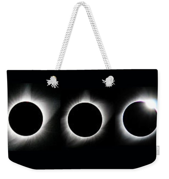 The Phase Of An Eclipse - Straight Weekender Tote Bag