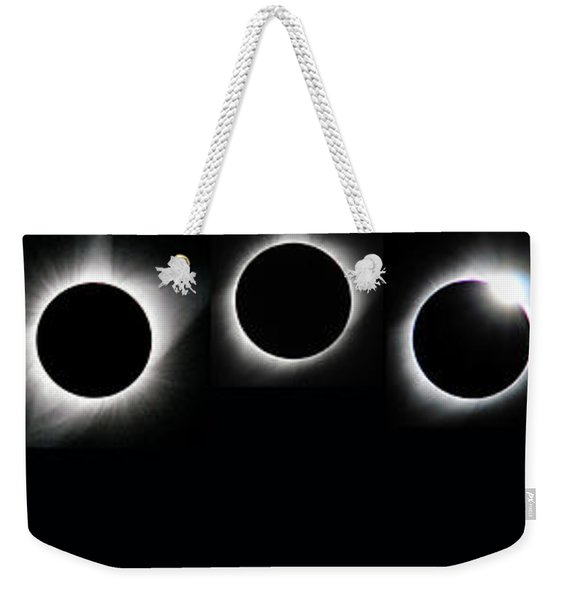 The Phases Of An Eclipse - Curved Weekender Tote Bag