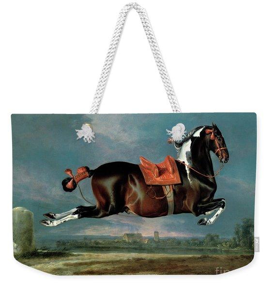 The Piebald Horse Weekender Tote Bag