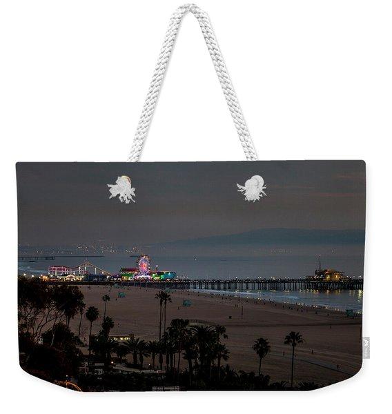 The Pier After Dark Weekender Tote Bag
