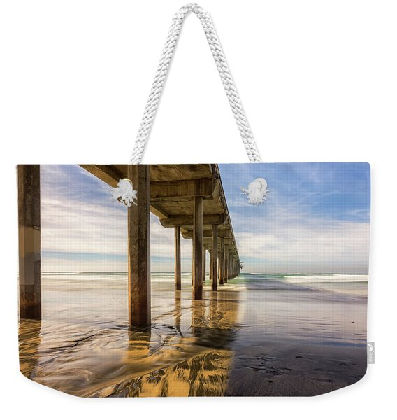 The Pier And Its Shadow Weekender Tote Bag